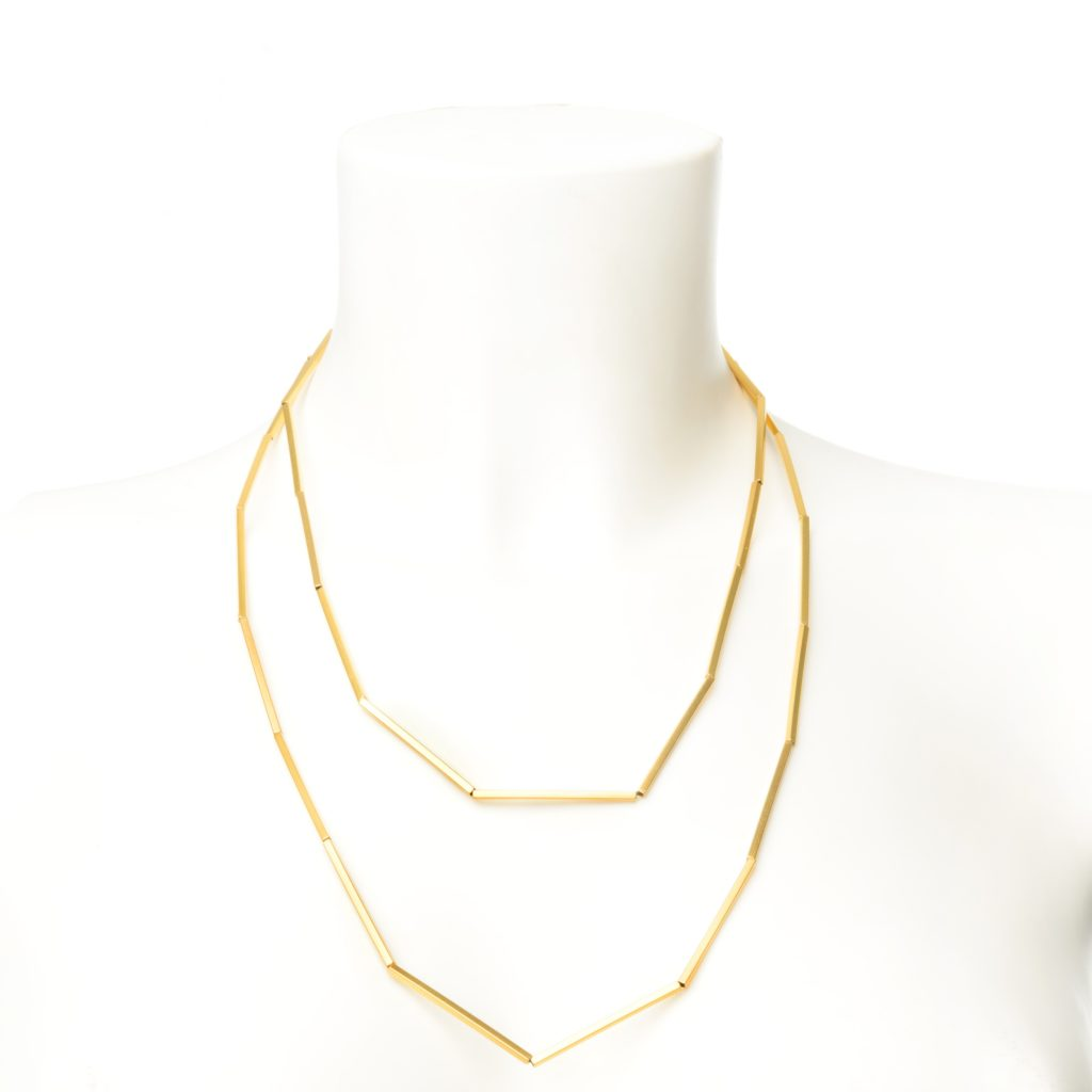 gold stripes necklace bracelet