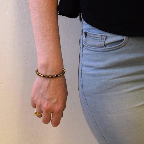 צמיד אבני זהב מדגם jean